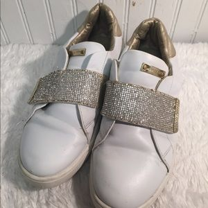 Michael Kors tennis shoes white gold 5